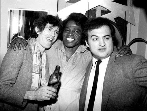 Keith Richards, John Belushi, James Brown Party Photo