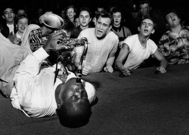 black and white jazz sax photo